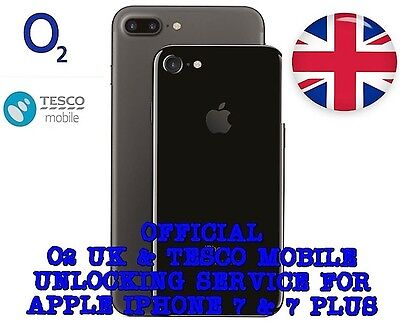 Official  O2 UK / Tesco Mobile UK  Unlocking Service for ** IPHONE 7 & 7 Plus **