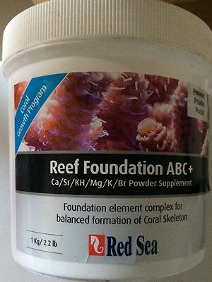 RED SEA 1KG REEF FOUNDATION ABC+ Ca Sr KH Mg K Br POWDER SUPPLIMENT FOR MARINE