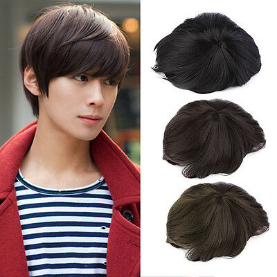 Korean Men Handsome Short Straight Hair Full Wigs Cosplay Party 3 Colors#H