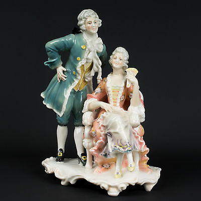 Karl Ens Volkstedt Figurengruppe - A German Porcelain Figure 'Rococo Style'