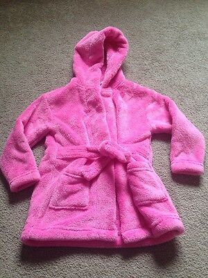 Girls Pink Dressing Gown 6-12 Months