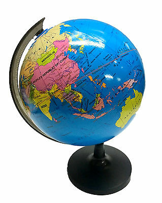 21cm Blue Ocean World Globe Map w Swivel Stand Geography Table Educational Toy