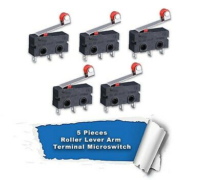 10x 5A AC 125-250V Roller Lever Arm Terminal Microswitch Limit Open/Close KW12-3