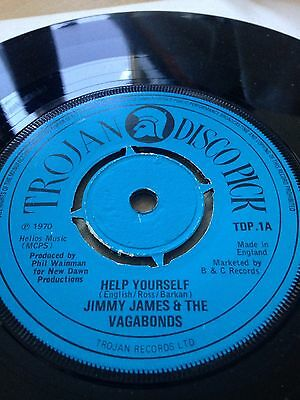 """Jimmy James & The Vagabonds Help Yourself - 1975... UK 7""""  record"""