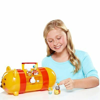 TSUM TSUM Winnie The Pooh Stack n'Display Carry Carrying Case 16 Piece 12figures