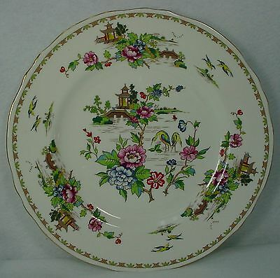 """CROWN STAFFORDSHIRE china PAGODA pattern DINNER PLATE 10-1/2"""""""