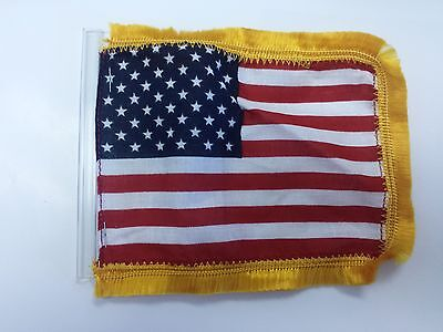 us antenna flag 4 x6 inch with fringe