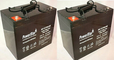 2 Pack - 12V 55Ah Scooter Battery UB12550 Group 22NF for Pride Jazzy 1115