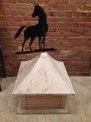 ANTIQUE Architectural Salvage Metal ROOF CUPOLA & Weathervane With horse