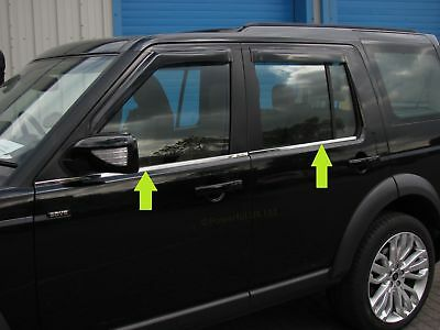 Chrome WINDOW RUBBER COVER KIT Land Rover Discovery 3 4 LR3 accessories strip
