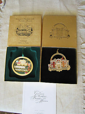Lot 2 Colorado Governor's Boettcher Mansion Christmas Ornaments w/boxes