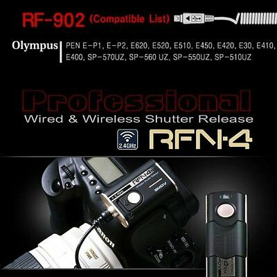 RFN-4 (RF-902) Wireless & Cable Shutter Release For Olympus DSLR Cameras RM-UC1
