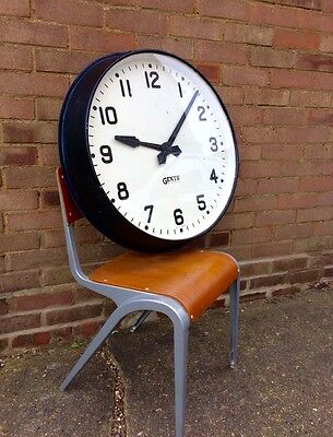 "Gents Of Leicester 27.5"" Surround Electric  Railway, Factory, Station  Clock"