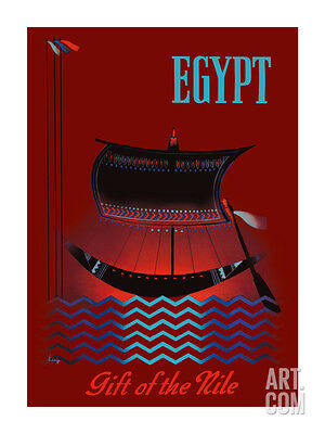 Egypt - Gift of the Nile - Ancient Egyptian Solar Boat Premium Giclee Print