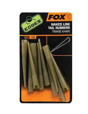 Fox Carp Fishing - NEW Edges Accessories - Naked Line Tail Rubbers