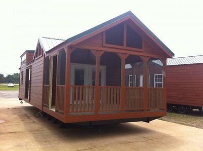 2017 NATIONAL CLASSIC 12x34 RUSTIC CABIN TINY MOBILE HOME PARK MODEL ALL FLORIDA