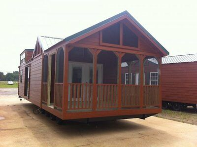 2018 NATIONAL CLASSIC 12x34 RUSTIC CABIN TINY MOBILE HOME PARK MODEL ALL FLORIDA