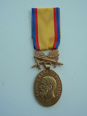 Romania Kingdom Medal For Manhood And Loyalty Medal For Bravery 1St Class.