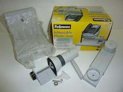 FELLOWES Adjustable Phone Arm Rotates 360 Degrees 3 Position Angle Office 69341