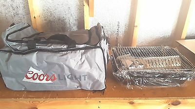 Coors Light Combo Beer Ice Cooler Propane Grill/tailgating/camping/new!!!