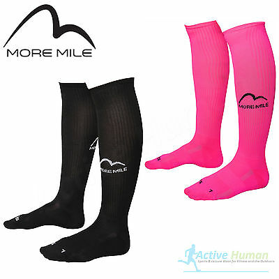 2 Pairs More Mile Compression Sports Running Knee High Long Socks Men Ladies NEW