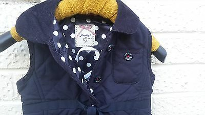 Junior J Quilted Jacket. Navy Blue. Age 2 - 3.