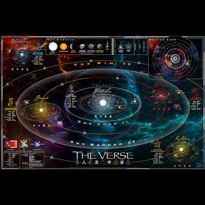 QMX Firefly Serenity Official Map Of The Verse RPG Art Print Poster SEALED NEW