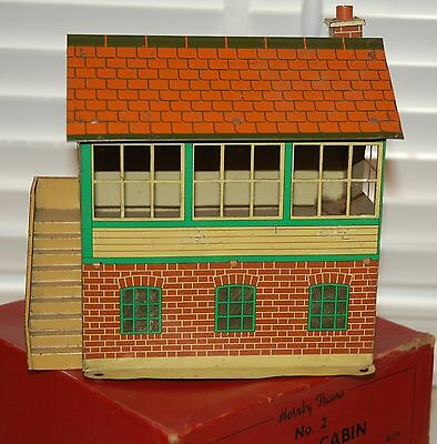 HORNBY SERIES O GAUGE No 2 SIGNAL CABIN BOXED