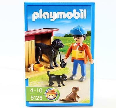 Playmobil Dog Kennel & Puppies Block Set 5125 New