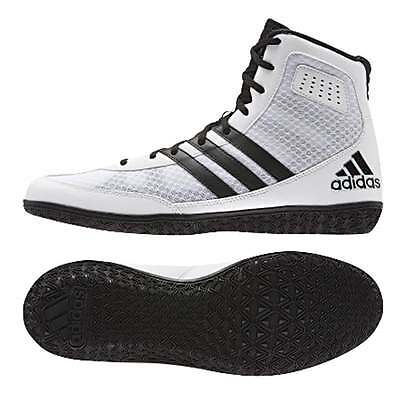 Adidas Boxing Mat Wizard 3 Boxing Boots - Black & White Wrestling Shoes Trainers