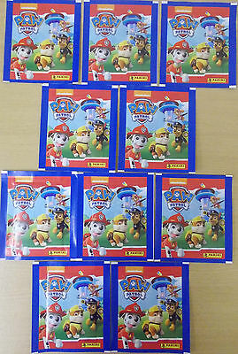 Paw Patrol ~ Panini Sticker Collection ~ 10 x Sealed Packs = 50 Stickers