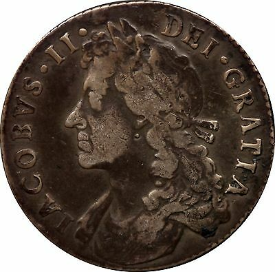 1686 James II shilling silver coin spink 3410