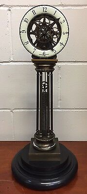 A Unusual Chain Driven Skeleton Pillar Clock, Open To Offers.