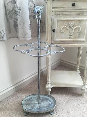 Vintage Antique style Ornate Metal Umbrella Stand Distressed Shabby Chic CAT