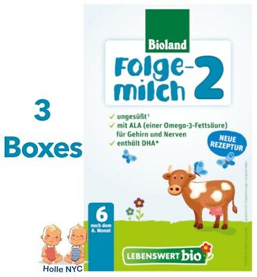 Holle Lebenswert Stage 2 Organic Formula,3 BOXES,500g 10/2018 FREE PRIORITY MAIL