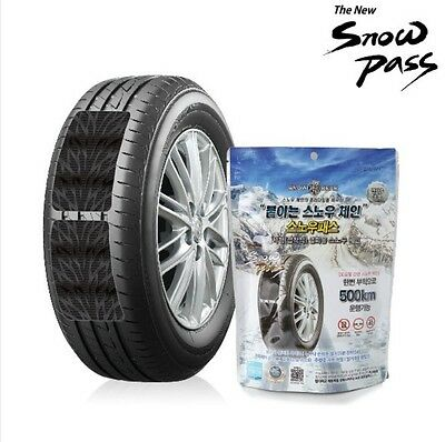 NEW Patch Type Snow Chain SNOW PASS 5 MIN Simple Install For Women 1 time 500 KM