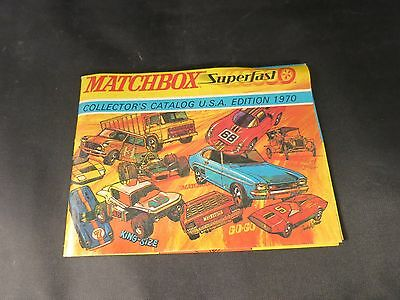 1970 Matchbox Lesney Catalog Usa Edition Collector's Guide Nice Condition
