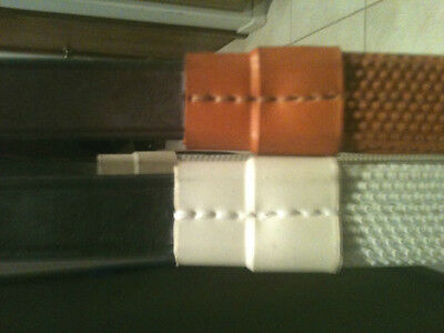 """New Leather Rubber Grip reins Made in England 3/4"""" (792) (1 pair your choice)"""