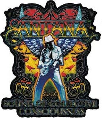 Santana - Silhouette Embroidered Patch , Iron / Sew - On