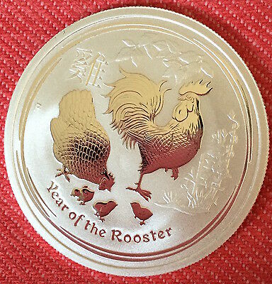 2017 Silver 1/2 oz Lunar Rooster Bullion Coin 9999 pure Perth Mint