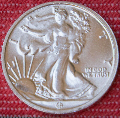 Walking Liberty 999 99.9% pure silver 1/10 oz bullion coin
