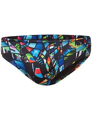 Boys Speedo Endurance Psychedelic Swim Briefs Swimmers. Size 6-12. NWT,RRP$55.00