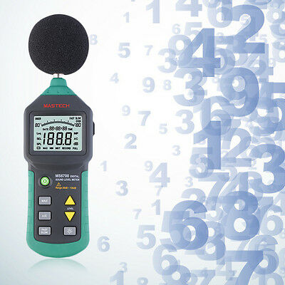 Mastech MS6700 Digital Sound Level Meter Test Measure Decibels 30-130dB GT