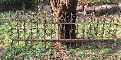 Large Antique Victorian Wrought Iron Fence Piece Reclaimed Local Pickup