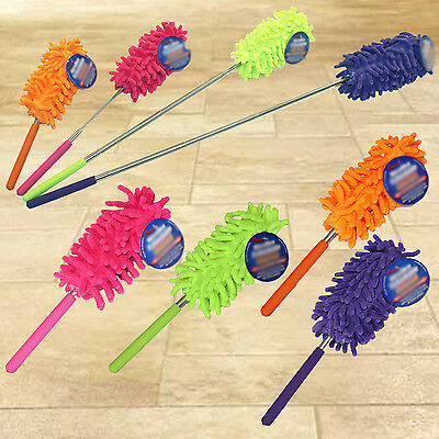 Feather Duster Microfibre Cleaning Extending Brush Extendable Telescopic Tool