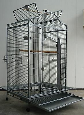 Brand New Bird Cage Parrot Aviary Open Roof 183cm* ED24