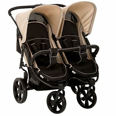 Hauck Baby/Child Roadster Duo/Twin SLX Double Pushchair/Pram/Buggy Caviar/Almond