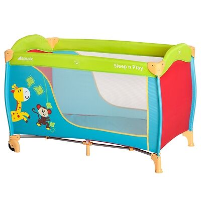 Hauck Baby/Child/Kids Sleep N Play Go Jungle Fun Travel Bed/Cot/2nd Bed