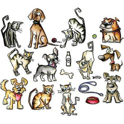 Sizzix Tim Holtz Framelits Die Set - MINI CRAZY CATS & DOGS