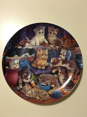 """""""FRISKY BUSINESS"""" Cute Kittens Collector plate by Bradford Exchange."""